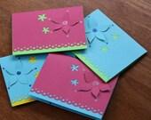 FREE SHIPPING - Blank Flower Card Set - 8