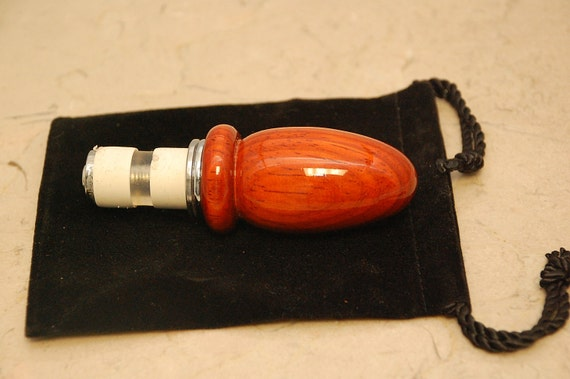Wine Bottle Stopper Red Padauk Adjustable With Chrome Plating