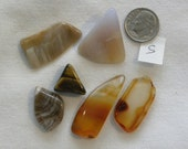 Tumbled Agate Agatized Wood Petrified Wood Tigers Eye Cabochons S Ready for DIY Silversmith Wire Wrap Crafts