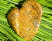 Rainbow Ridge Moss Agate Heart Stone Metaphysical Reiki Lapidary