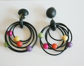 Pair of 80s Earrings