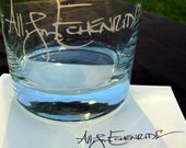 YOUR Signature Etched on a Tumbler Rocks Glass - The Most Creative and Unique Custom Gift Ever - Personalized Glassware