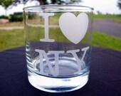 I Heart NY - I Love New York Etched Tumblers - Rocks Glasses - Set of 2 - So Super Duper Sweet