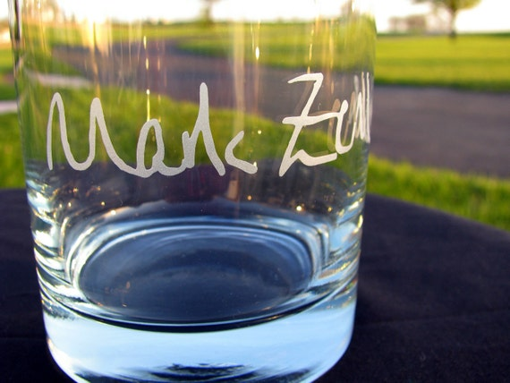 YOUR Signature Etched on a Tumbler Rocks Glass - Most Creative and Unique Custom Gift Ever - Personalized Glassware - Sweet Groomsmen Gifts
