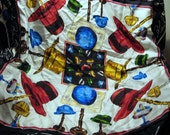 Vintage Karl Lagerfield Scarf Multi Color Hat Print