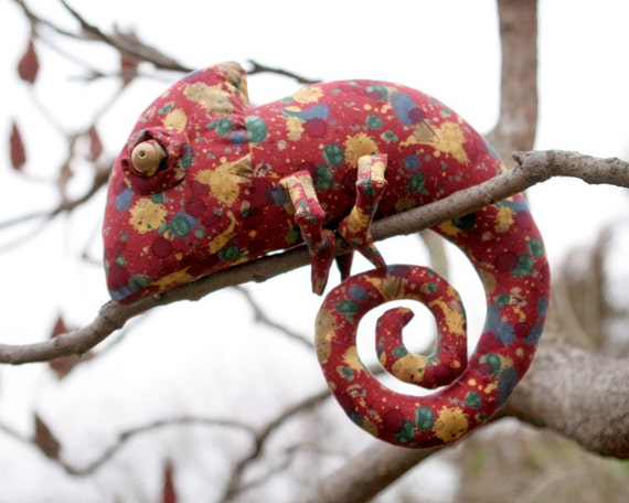 Paintball Chameleon stuffed toy