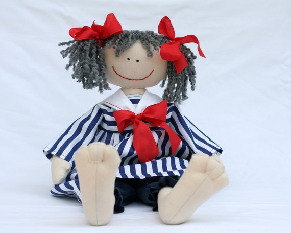 Sailor Girl, country style raggedy doll