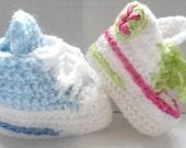 Hi Tops  - Convers  age 0-3 & 3-6  9 -12 months  crochet Pattern girls boys boots unisex