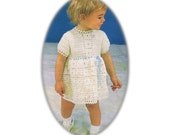 Instant Download KVNC60 Babys Girls Vintage Style Dress Crochet Pattern NEW Listed - PDF email to download