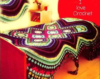 VKNC250 crochet Blanket  Counterpane Afghan  Throw Crochet Pattern  - PDF -  INSTANT download