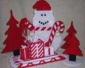 5 pc Snowman Centerpiece