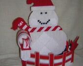 CLOSEOUT Snowman Basket