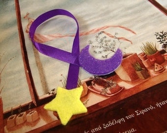 Moon and star bookmark
