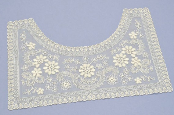 Off White, Classic, Bib Collar, Applique for Dressmaking, Costumes, Vintage Style