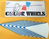 Bike Spoke Decoration Color Whirls Bicycle Accessory 1970s Vintage