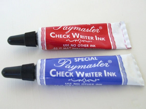 Paymaster Check Writer Ink Red Amp Blue Metal Tubes