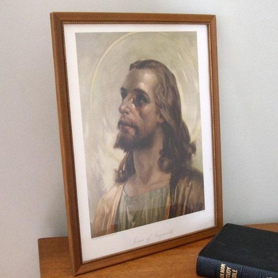 Religious Art - Jesus of Nazareth Wall Hanging Jambor Lithograph