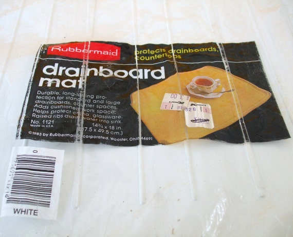 Vintage Rubbermaid Drainboard Mat Dish Drying Rack Drainer
