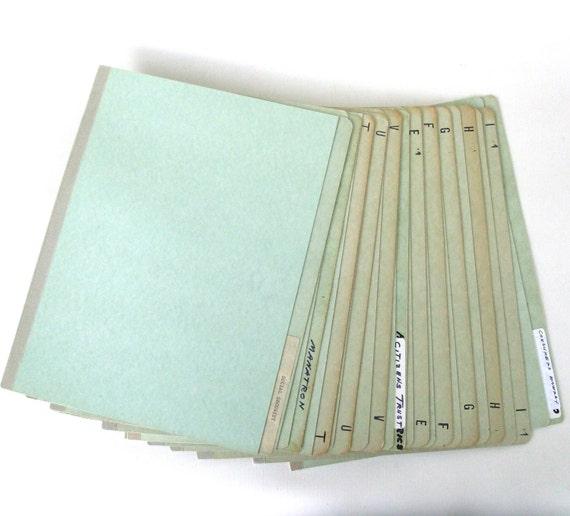 Vintage File Folders Filing Cabinet Industrial Office Supplies Lot of 11