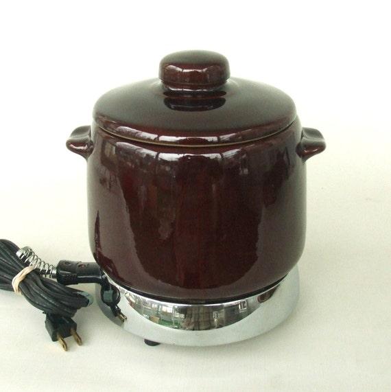 West Bend Bean Pot Slow Cooker Fondue Valentine Dinner