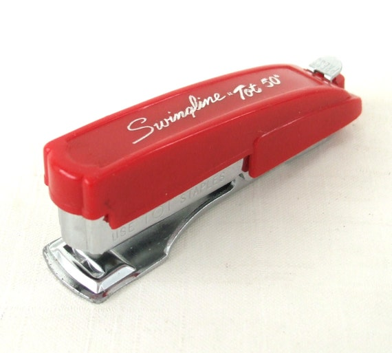 Vintage Swingline Tot 50 Stapler Made in USA Red