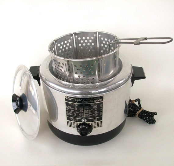 Vintage Dormeyer Deep Fryer Cooker Popcorn Popper Small