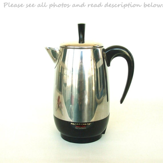 Farberware Coffee Maker Cleaning : Farberware Superfast Electric Coffee Percolator by LaurasLastDitch