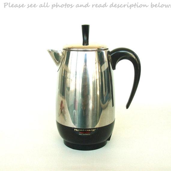 Electric Coffee Maker Parts : Farberware Superfast Electric Coffee Percolator by LaurasLastDitch