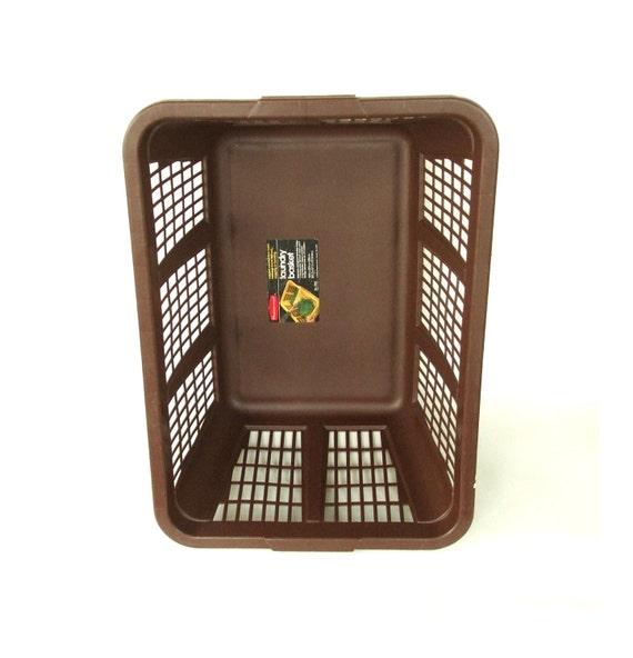 Vintage Plastic Laundry Basket Retro Brown By Lauraslastditch