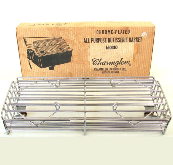 Charmglow Rotisserie Basket BBQ Grill Accessory Vintage