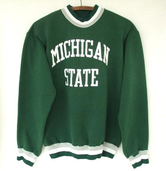 Vintage Michigan State University Sweatshirt M Men