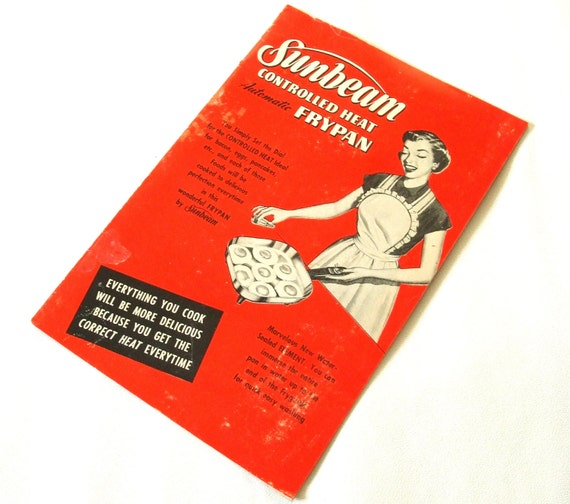 Vintage Sunbeam Electric Fry Pan Skillet Instruction Manual