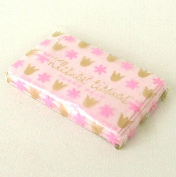 Vintage Kleenex Tissue Purse Pack 1960s Pink By