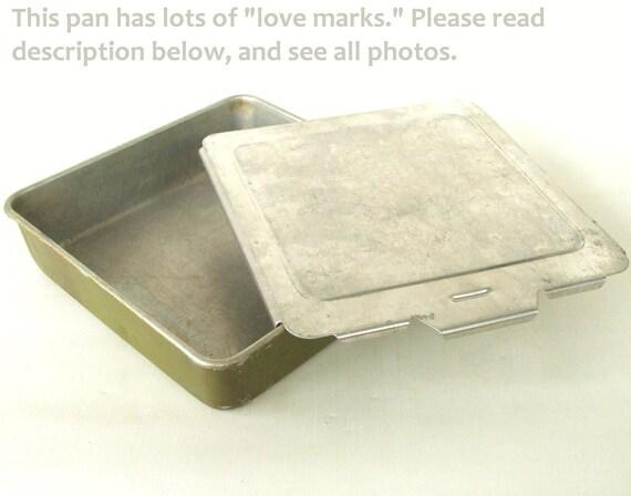 Aluminum Cake Pan Sliding Lid 8 X 8 Square By Lauraslastditch