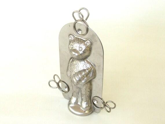 Vintage Chocolate Mold - Teddy Bear Christmas Tree Mould 3D