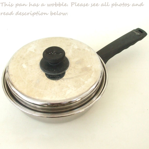 Lifetime Cookware Stainless Frying Pan Waterless Vintage