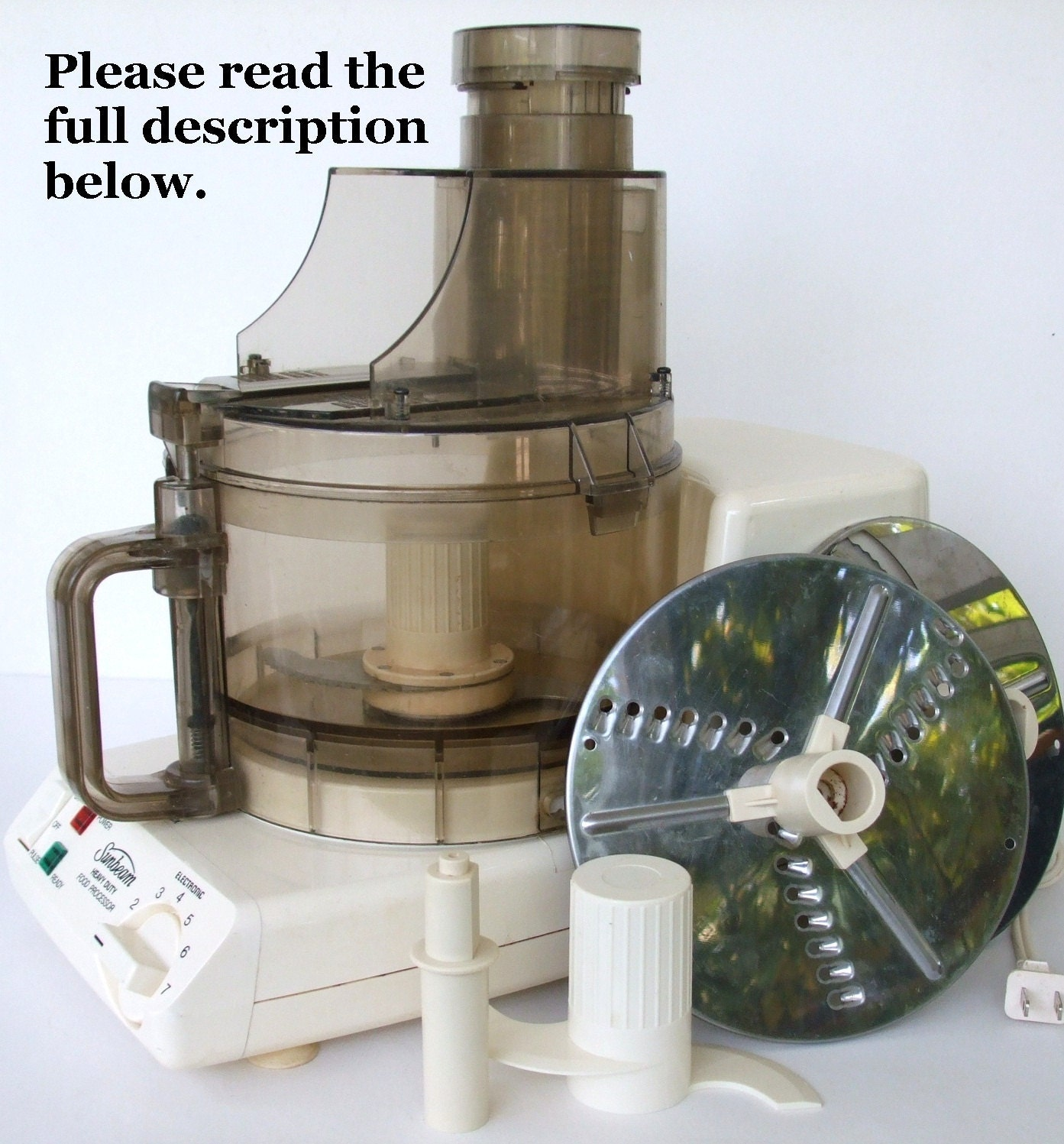 Sunbeam  Speed Heavy Duty Food Processor Model