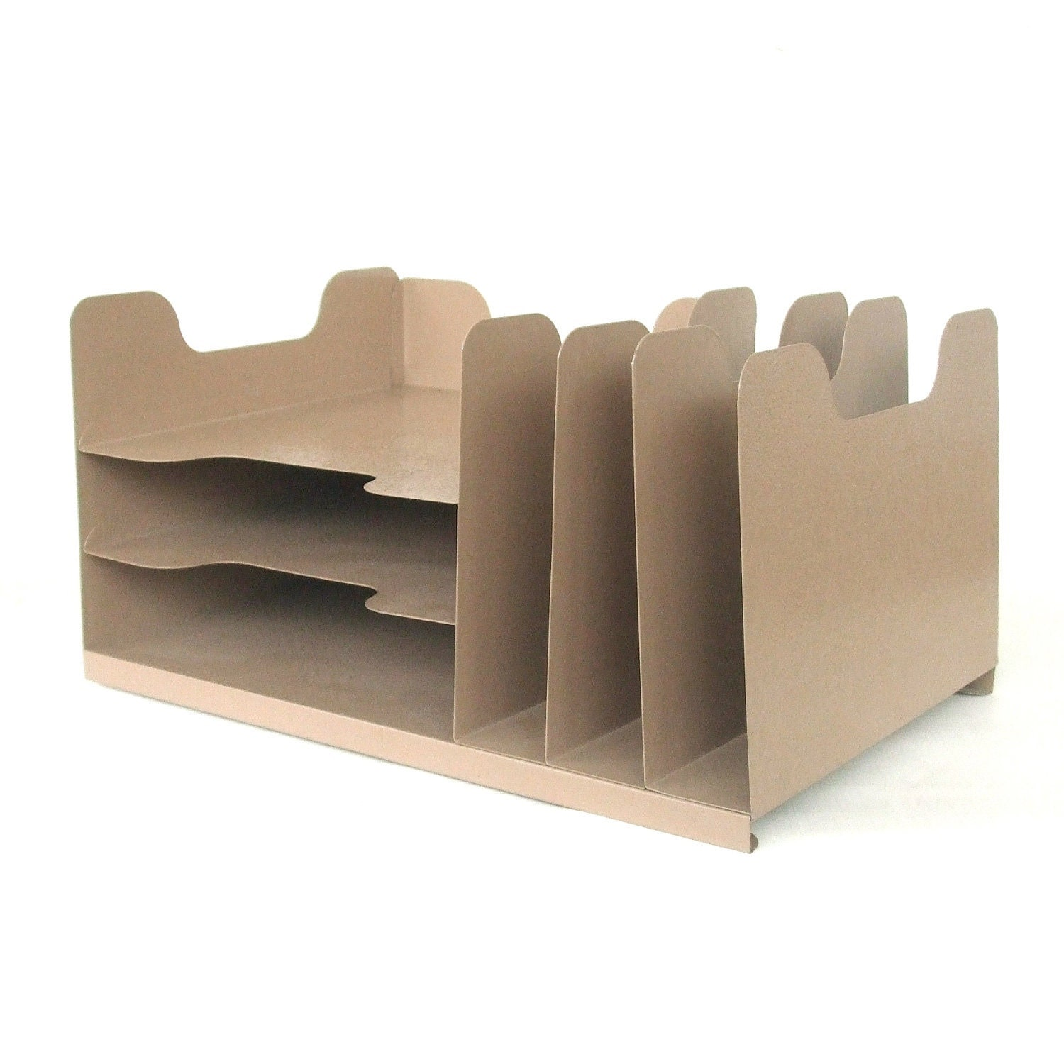 in out box desk organizer office supply beige by lauraslastditch