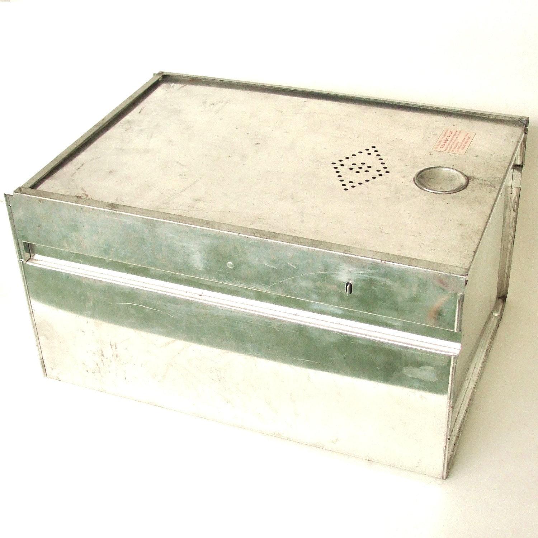 Tin bread box drawer insert -  Tin Bread Box Drawer Insert Kitchen Cupboard Hoosier Cabinet Drawer Liner Zoom