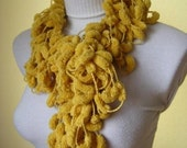 yellow Cozy Style Christmas Scarf - winter fashion, holiday, cowls, scarves, wine, mother, accessories, neckwarmer, soft