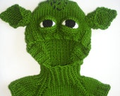 FREE  -Yoda baby-boy hat, a ski mask, hat, neck strap, epaulet,12-24 months of newborn