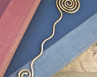 Book Mark - Brass / Hand Forged Spirals