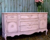 RESERVED SHABBYLIFE Romatic Paris Apartment Distressed Pink Dresser Server French Provincial