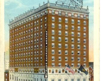 Andrew Jackson Hotel - Nashville Tennessee -1928 Vintage Postcard