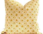 Duralee Yellow Trellis  Decorative Pillow Cover Square or Lumbar pillow cover, Throw pillow, Toss pillow, Accent pillow