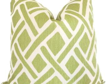 Kravet Green Trellis Decorative Pillow Cover 18x18, 20x20, 22x22 or lumbar pillow - Throw Pillow - Accent Pillow - Toss Pillow
