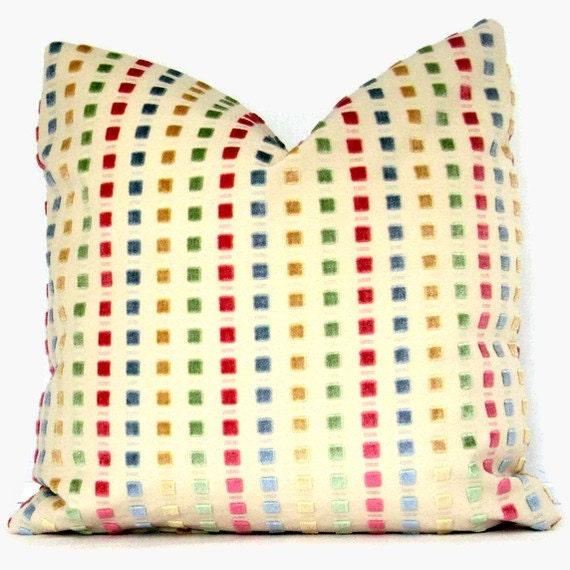 Spring Velvet Dots Pillow Cover 18x18 or 20x20