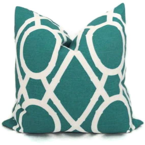 Ultramarine Green Bamboo Trellis Pillow Cover 18x18, 20x20 or 22x22