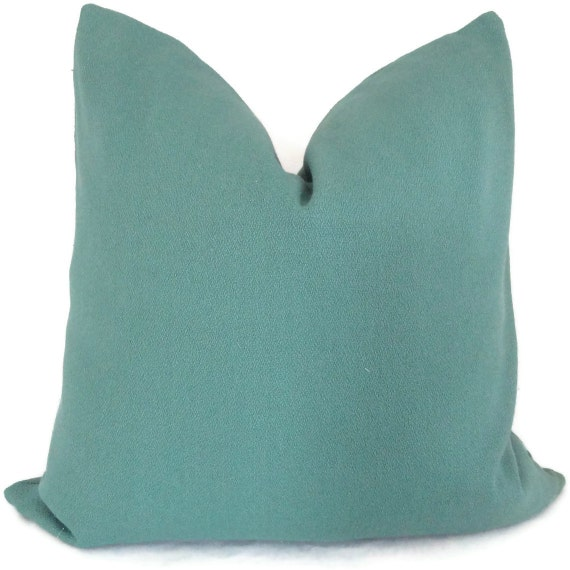 Turquoise Hemp Decorative 18x18, 20x20, 22x22, Eurosham or Lumbar Pillow Cover - Accent Pillow - Throw Pillow - Toss Pillow