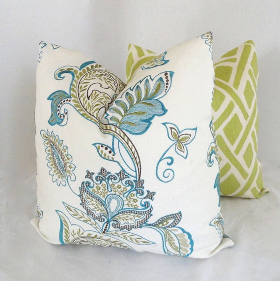 Jacobean Decorative Pillows : Embroidered Jacobean Decorative Pillow Cover Lumbar by PopOColor